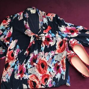 ✨kate spade hazy floral blouse